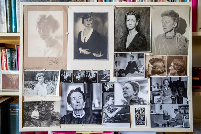 Jeanne Bieruma Oosting op verschillende foto's.
