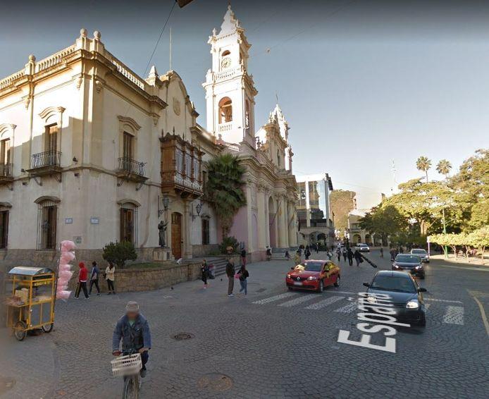 Plaza 9 de Julio in het centrum van Salta, de 'meest Spaanse stad' van Argentinië.