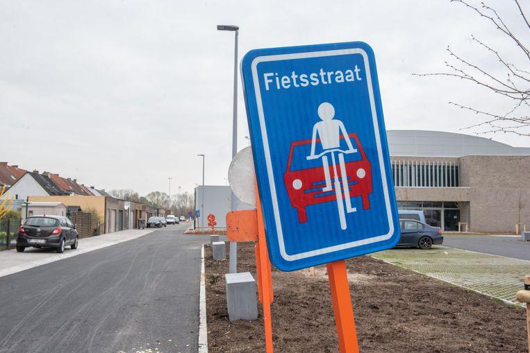 Ook Merksem zal vanaf vrijdag een fietsstraat hebben.