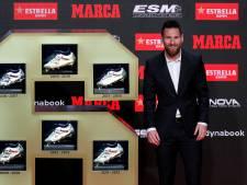 Lionel Messi a reçu son sixième Soulier d'or européen, un record