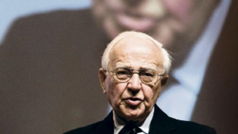 Oud-premier Piet de Jong vergeleek de PvdA met een vuilnisbelt. (FOTO ANP) Beeld