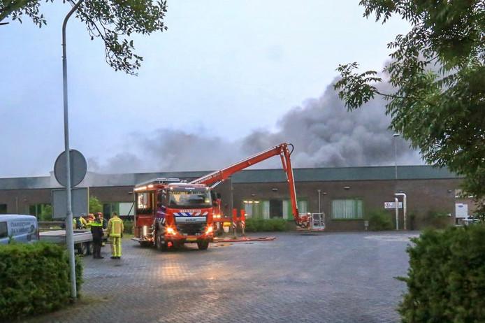 Brand bij champignonkwekerij in Gemert.