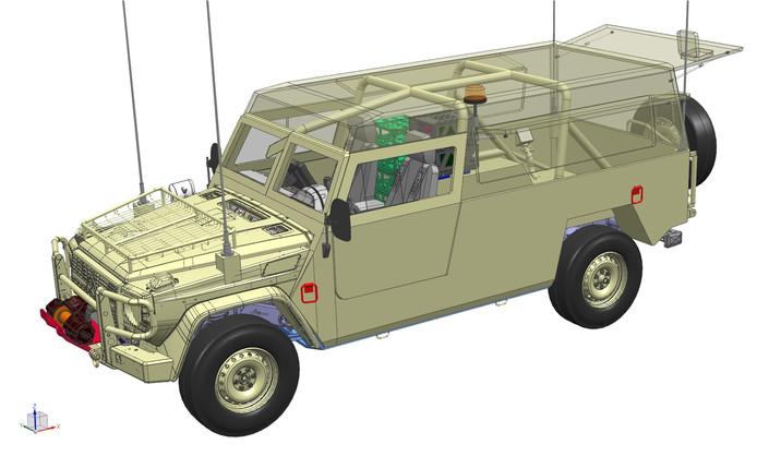 Een voorbeeld van een terreinwagen die VDL voor Mercedes-Benz gaat opbouwen.