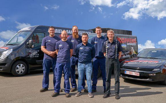 Het team van Jean-Luc Coppens.