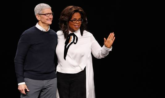 Tim Cook en compagnie d'Oprah Winfrey