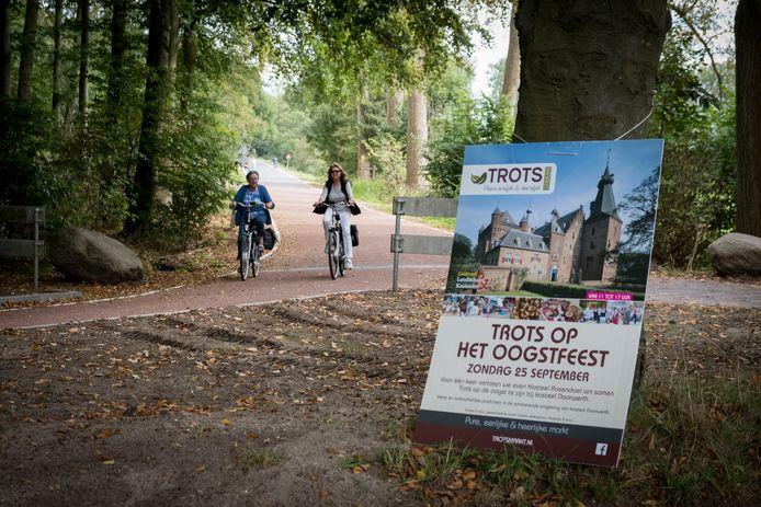 De snelfietsroute tussen Arnhem en Wageningen is bij kasteel Doorwerth al klaar.