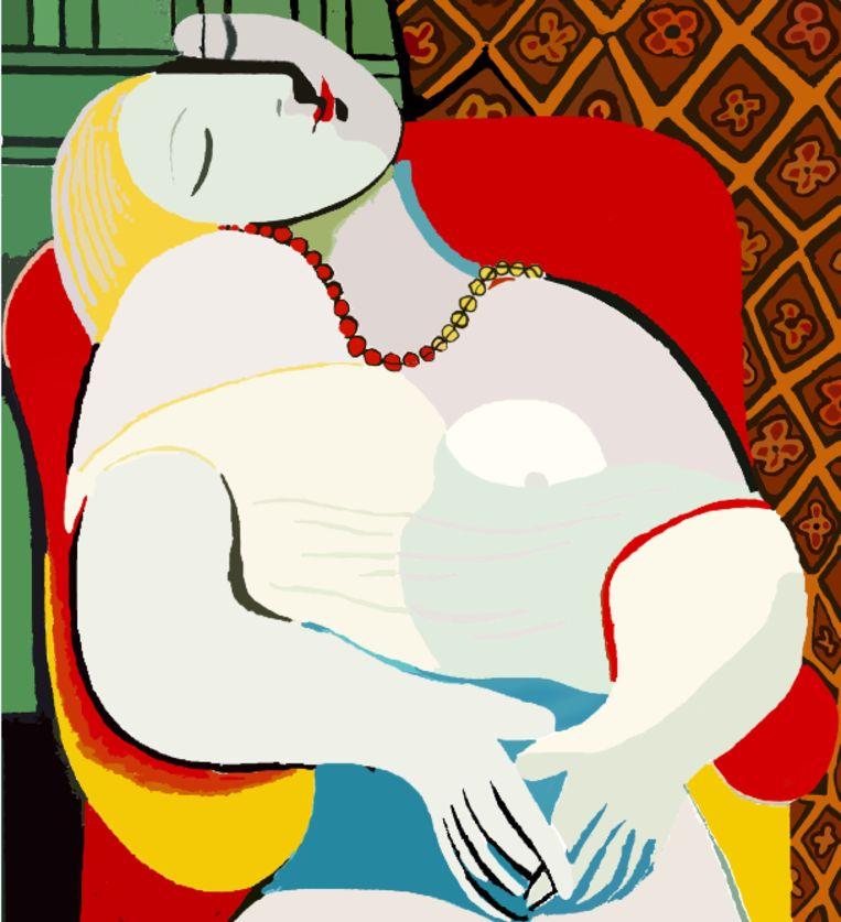Le rève, Pablo Picasso Beeld
