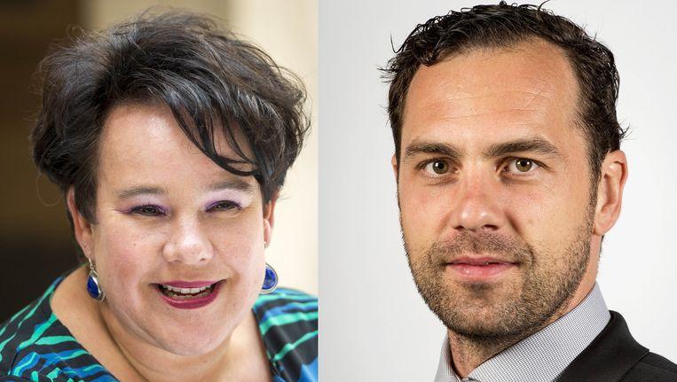 Sharon Dijksma en Martijn van Dam. Beeld ANP