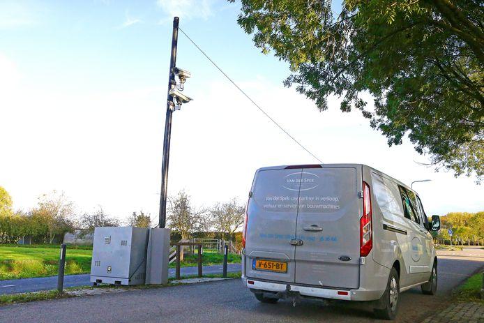 In Culemborg monitorde de provincie eerder sluipverkeer met camera's.