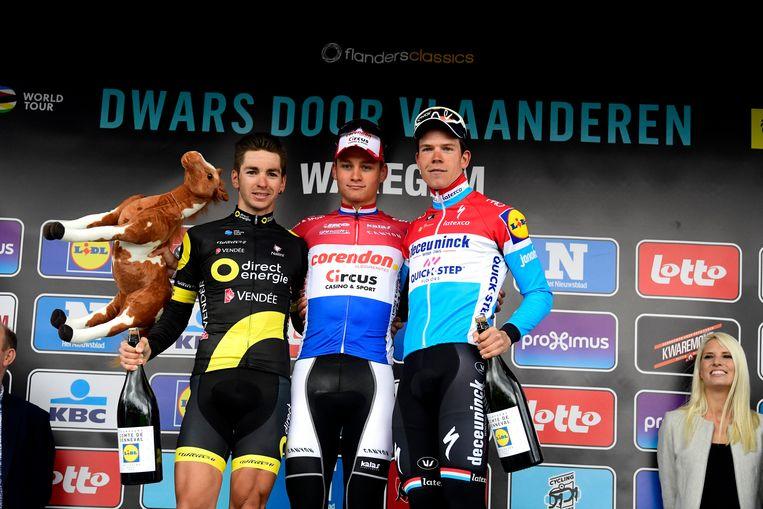 Vlnr.: Anthony Turgis, Mathieu van der Poel en Bob Jungels.