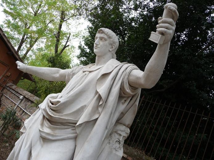 De beelden in Rome. Foto: Michael Amsman