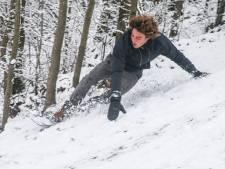 Het Citadelpark lijkt even een wintersportparadijs