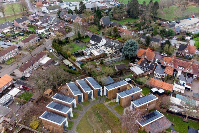 Energie-neutrale tiny houses in Aarle-Rixtel, ontwikkeld door project De Hopman.