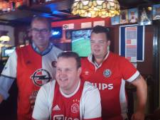 Gemoedelijke rivaliteit bij voetbalfans in Vughts café