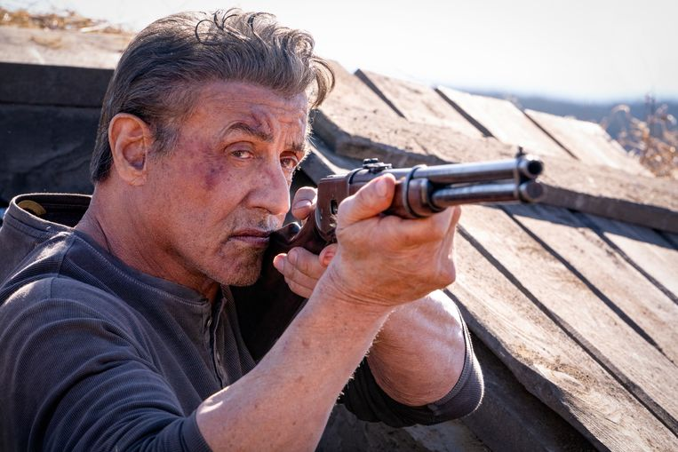 Sylvester Stallone als Rambo.