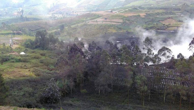 De Sileri krater op het Dieng Plateau.