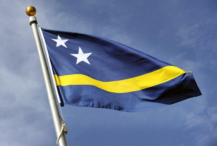 De vlag van Curaçao. Beeld ANP