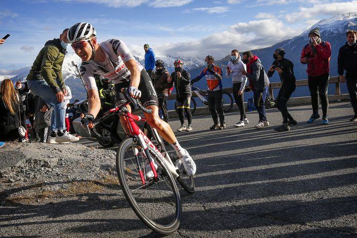 Wilco Kelderman tijdens de etappe van gisteren.
