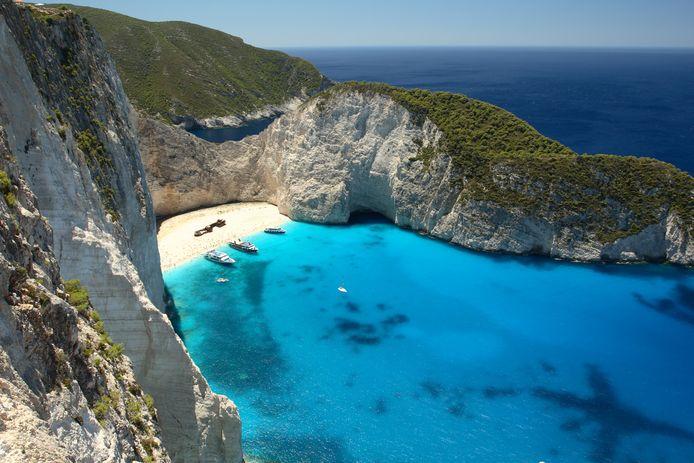 Beach Navagio in Zakynthos, Griekenland.