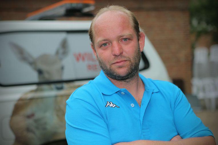 Rudi Oyen, eigenaar van het Vogel- en Zoogdierenopvangcentrum.