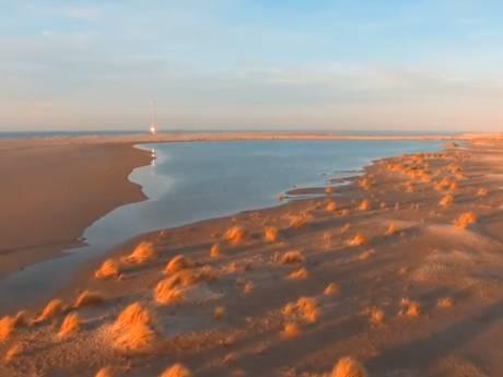 Drone brengt de Zandmotor op bijzondere wijze in beeld