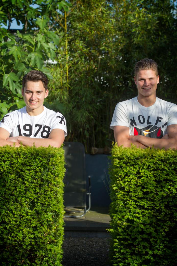 Bob Groenendijk (links) voor zijn vertrek naar de VS twee jaar geleden.