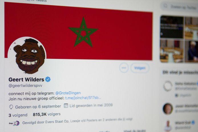 Het gehackte account van Geert Wilders.