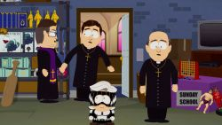 Pedopriesters, superhelden en veel gevloek in knettergekke lanceertrailer van game 'South Park: The Fractured But Whole'