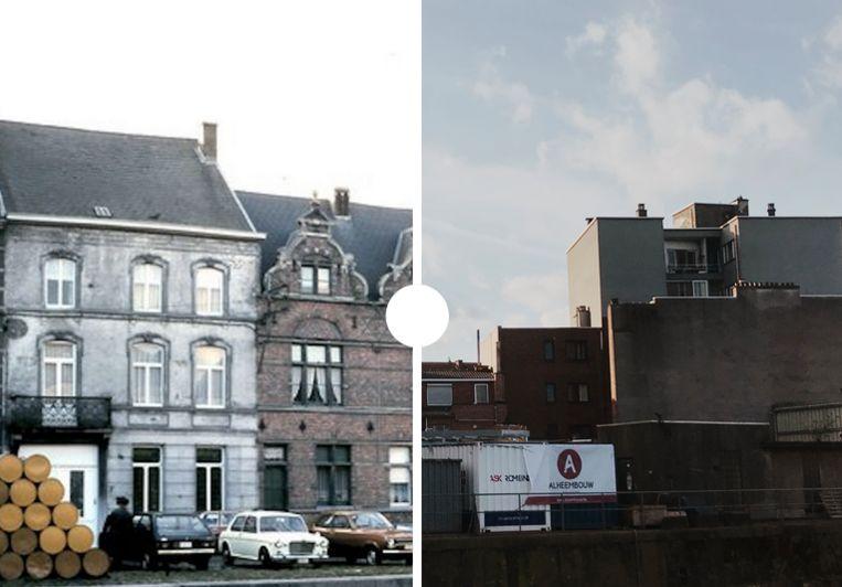 Vroeger en nu Van Wambekekaai Aalst.