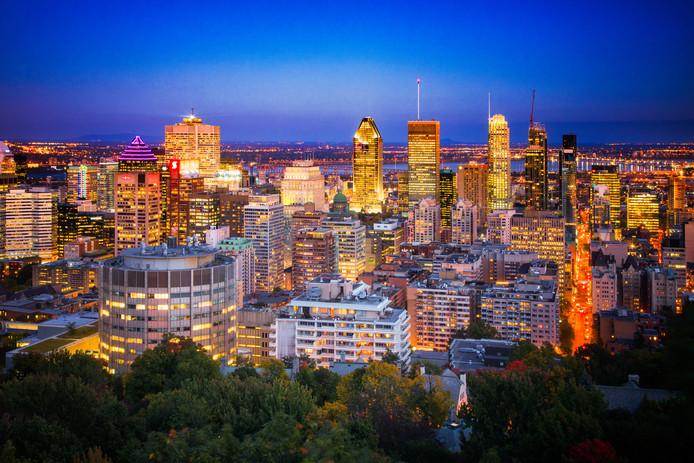 """La """"skyline"""" de Montréal (illustration)."""