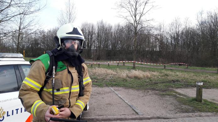 Brandweerlieden controleerden de pijpleiding van RRP in Haaren.