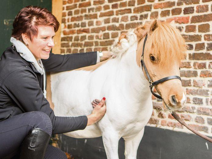 Antoinette Langenberg masseert paarden en pony's. Zij geeft in oktober en november workshops bij manege Nijenkamp in Holten.