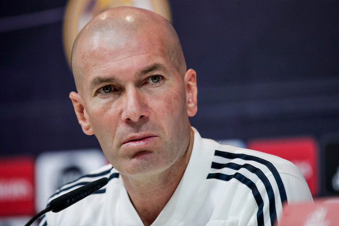 Zinedine Zidane, coach van Real Madrid.