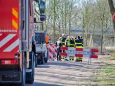 Gaslek in Hilvarenbeek, brandweer dicht lek provisorisch met ducttape