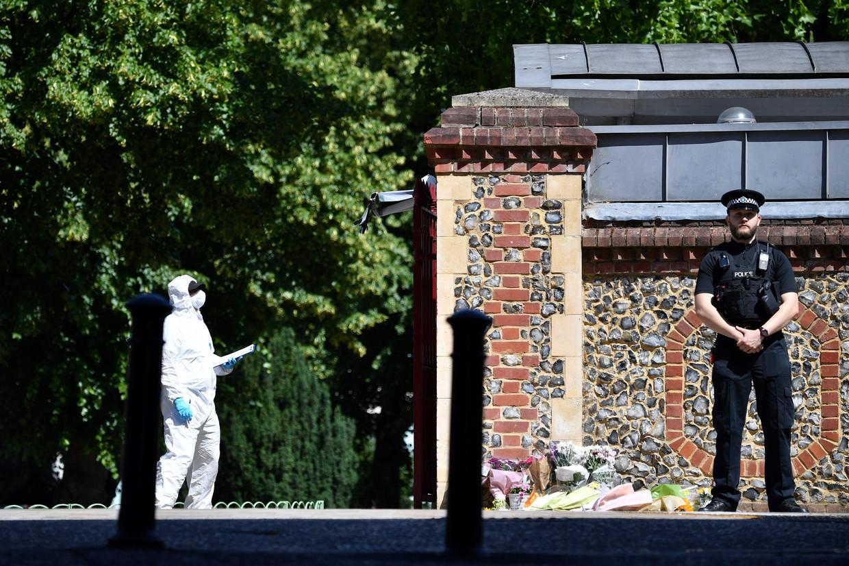 Forbury Gardens in Reading, de plek waar Khairi Saadallah drie mannen doodstak.