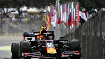 Albon crasht, maar zet eerst snelste tijd neer in kletsnatte oefensessie Brazilië, Leclerc moet tien plaatsen achteruit