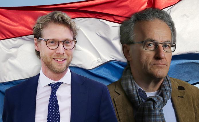Maarten Burggraaf en Bert Staat zien graag de Nederlandse vlag terug in de raadszaal.