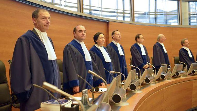 Rechters van het Internationaal Zeerechttribunaal Beeld afp