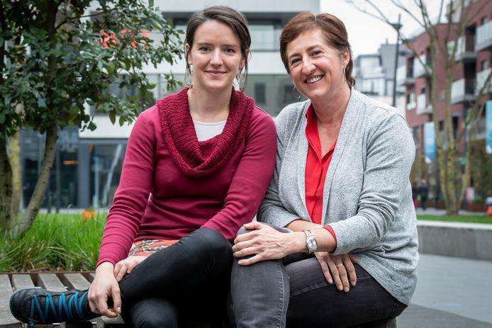 Natalie Eggermint (Lijsttrekker Vlaams Parlement) en Ilona Vandenberghe (Lijsttrekker federaal parlement)