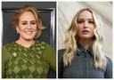 Adele et Jennifer Lawrence