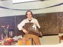 Cees Joosen in 1980 op de Canisiusschool in Den Hout.