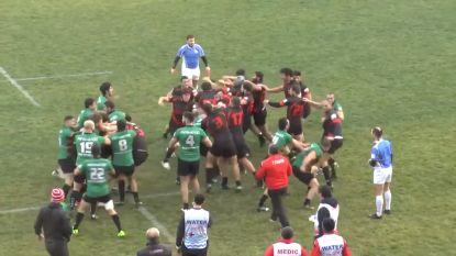 Da's er niet naast: rugbymatch ontaardt in massale knokpartij