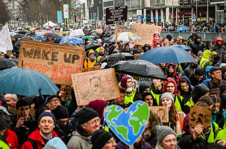 Beeld van een klimaatmars in Brussel eerder dit jaar.