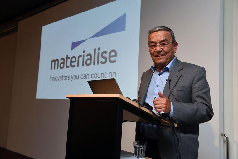 Burgemeester Tobback is ook van de partij bij de voorstelling van het vierde gebouw van Materialise.