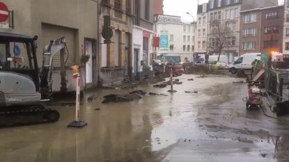 Raafstraat staat onder water na gesprongen leiding