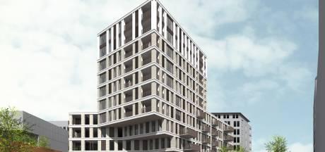 Bouw van de gedraaide toren Upstairs in Paleiskwartier officieel van start