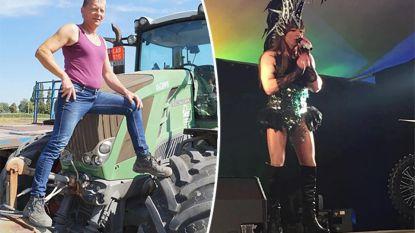Overdag rijdt getrouwde Luc (47) met de tractor, 's avonds verandert hij in een showqueen