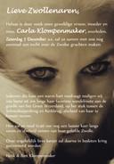 Overlijdensadvertentie Carla Klompenmaker.