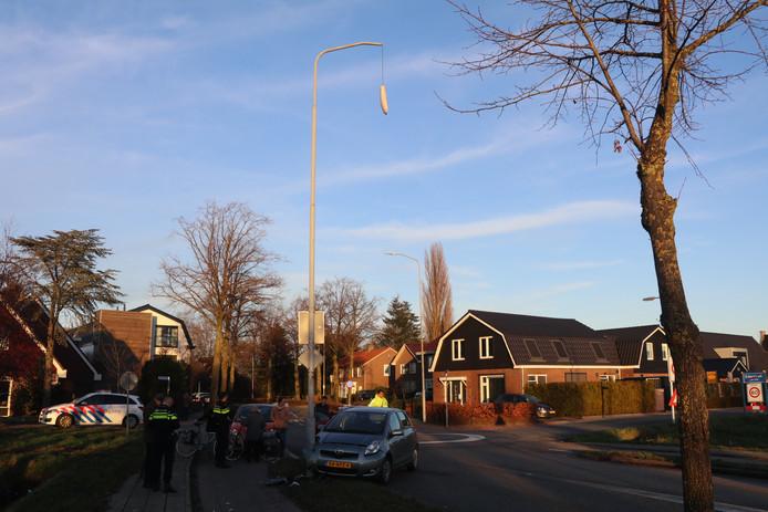 Auto botst tegen lantaarnpaal in ederveen automobiliste for Venster lantaarn rotterdam