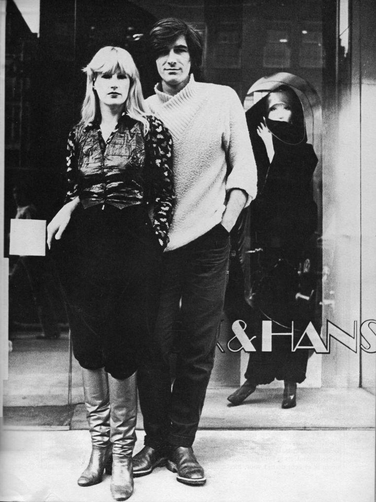 Voor de winkel in Amsterdam, 1977 Beeld Archief Puck en Hans